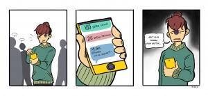 Herkko avaa kännykkänsä ja saa ruudulle kasan lukemattomia viestejä ja ilmoituksia. Hän oli ollut poissa vain vartin ajan.